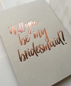 Pale Grey Bridesmaid Card