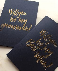 Will you be my groomsman and best man cards